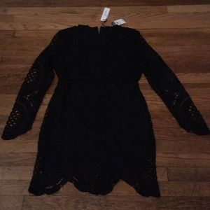 Black lace dress long sleeve
